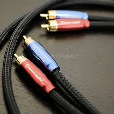 TA-301 Snake Black Golden Plated Audiophile RCA to RCA Hi-Fi Cable 1meter Pair