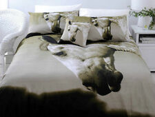 3 Pce DAPPLE Horse Grey KING Size Quilt Doona Duvet Cover Set