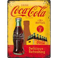 Blechschild groß Coca Cola Bottles Yellow,Nostalgie Schild 40 cm ! ! !,NEU
