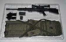 1/6 Modern Special Forces SNIPER Rifle / Drag Bag / Harness / Binocs Loose