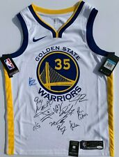 2018-19 GOLDEN STATE WARRIORS TEAM SIGNED NIKE JERSEY STEPHEN CURRY KD KLAY JSA