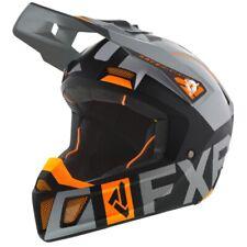 FXR Clutch Evo Winter Snowmobiling Full-Face Helmet - Black, Gray, & Orange