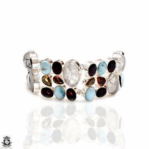 Tourmalated Quartz Larimar Bracelet B4244