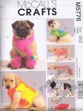 Pattern McCalls Sewing  Pet Dog Cat Coat Scarf Hood Leg Warmers NEW