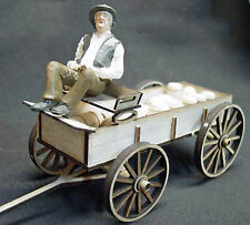 FARMER'S WAGON G F 1:20.3  Scale Model Railroad Unpainted Wood Laser Kit GMFWF