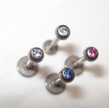 TITAN Labret Tragus Piercing Stab 8mm oder 6 mm einzeln oder im SET