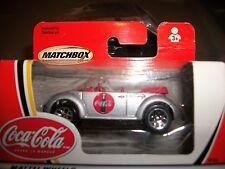 "4 cars Matchbox ""Coca Cola"" VW New Beetle; all MOC, 3 convert's / 1 coupe"