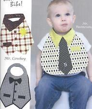 Dude Babies little man bibs pattern by Barbara Brunson of Vanilla House Designs