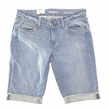 Sonoma Skinny Bermuda Jean Shorts Size 4 Blue Light Wash Mid Rise Cuffed