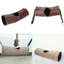 Hamster Bed Hammock Tunnel House Rat Mouse Pet Hanging Soft Sleep Gray Plush