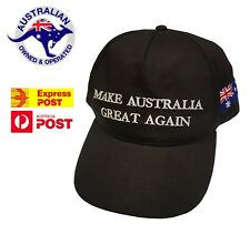 Make Australia Great Again Hat MAGA Cap Black 2020 Aussie America AUS Trump