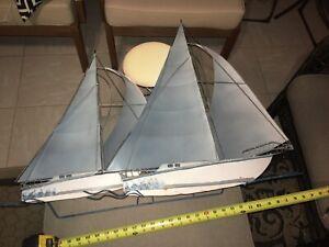 """Metal Art (Outdoor) Sailboats with Sunset 30""""x27""""x6"""""""