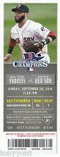 Derek Jeter Last Final Game Ticket Stub Yankee Boston Red Sox Fenway 9/28/14 MNT