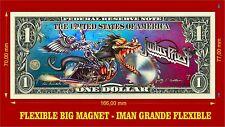 Judas Priest Painkiller IMAN BILLETE 1 DOLLAR BILL MAGNET