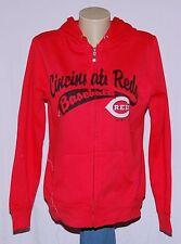 Cincinnati Reds Womens Hoodie Full Zip Hooded Sweatshirt M- MLB Majestic