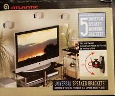 5 Universal Surround Sound Speaker Bracket Mounts ~supports upto 10lbs