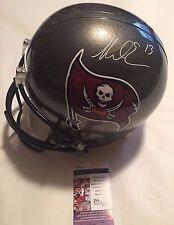 Mike Evans Autographed Full Size Tampa Bay Buccaneers Helmet JSA COA