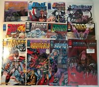 IMAGE COMICS Lot YOUNGBLOOD, WILDCATS. TRILOGY, BRIGADE  11 issues 1990s