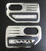CHROME SIDE VENT TRIM FOR NISSAN NAVARA D40 STX SX 2005 - 2012 07 08 09 10 11 12