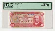 CANADA 1975 Bank of Canada 50 Dollars Pick # 90a PCGS 66 PPQ UNC