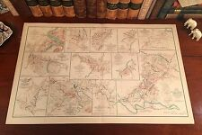 Original Antique Civil War Map 1864 VIRGINIA BATTLES Harpers Ferry Strasburg VA