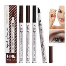 Eyebrow FORK TIP PEN Pencil Waterproof Brow Pen Liquid Ink 3D Make-up Tool UK