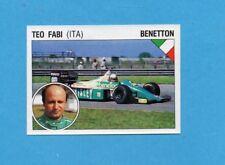SUPERSPORT 1986-PANINI 86-Figurina n.40-FABI-BENETTON-AUTOMOBILISMO-Recuperata