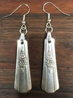 Antique Vintage Spoon/ Fork Deco WM. Rogers Desire Earrings Silverware Jewelry