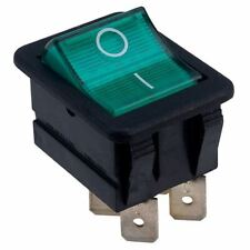 Arcolectric C1553 VB NAC Rocker Switch Lit Green DPST On-off 250v AC 16a