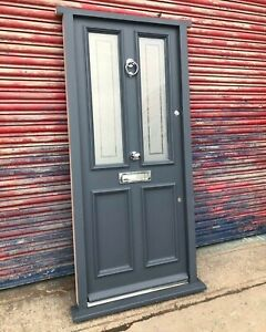 Traditional Hardwood Victorian Entrance Front Door Bespoke Made to Measure