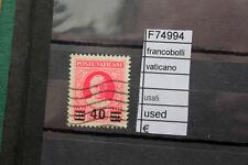 FRANCOBOLLI STAMPS VATICANO USED USATI (F74994)