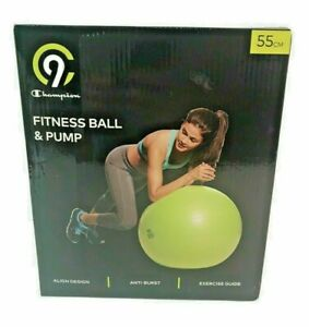 C9 Champion 55cm Fitness Ball & Pump - Green