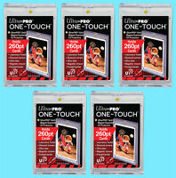 5 Ultra Pro ONE TOUCH MAGNETIC 260pt UV Trading Card Holder Case Sports 84733-UV