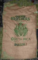 "Large COSTA RICA Coffee Bean Burlap Bag Sack, Wall Art, 30"" X 17"""