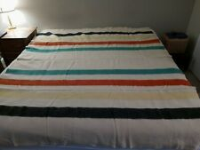 VTG Pendleton Glacier Bay 100% Wool Trapper blanket, Striped, Used No Tag, U.S.A