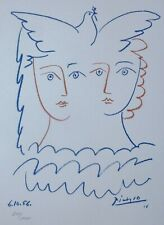 PABLO PICASSO FEMMES A LA COLOMBE SIGNED HAND NUMBERED 274/1000 LITHOGRAPH DOVE