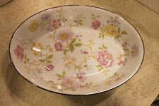 "1-Noritake Harmony Platinum Oval Vegetable Bowl 9 5/8""--MINT!"