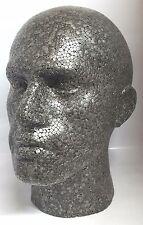 Macho Maniquí Cabeza Doted para gafas modelo, pantalla de casquillo de la peluca gris de alta calidad