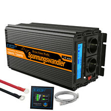 1000W 2000W Inverter 12V a 220V Onda Pura Convertitore Inverter LCD USB EDECOA