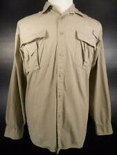 Nice Men's Large Wrangler Outdoor Beige Long Sleeve Vented Button Shirt GUC