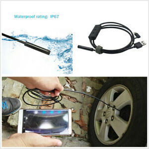 5M 8LED Car Wifi & USB 2in1 Endoscope Camera 720P Inspection Borescope 8mm Lens