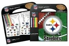 PITTSBURGH STEELERS 6 COLOR PENCILS STICKERS NOTEPAD 24 ACTIVITY PAGES NEW