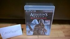 Assassin's Creed: Revelations w/Bonus AC1 (PS3, 2011) 1ST PRINT/BLACK LABEL RARE