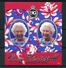 Guyana 2016 MNH Queen Elizabeth II 90th Birthday Anniv 2v S/S Royalty Stamps