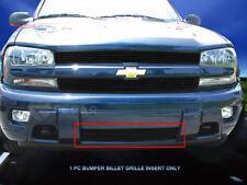 Black Bupper Billet Grille Grill  For Chevy Trailblazer LT/LS/SS 2002-2005