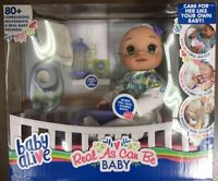 ✨ BRAND NEW BABY ALIVE DOLL REAL AS CAN BE BABY INTERACTS WITH EXTRAS BRUNETTE ✨