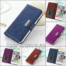 For Apple iPhone 6/6s Luxury Magnetic Flip Wallet Leather Case Cover Blue