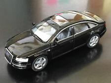 """New 5"""" Kinsmart Audi A6 Diecast Model Toy Car 1:38 Scale Pull Action Black"""