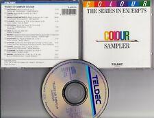 TELDEC COLOUR SAMPLER 1988 CD CLASSICAL Beethoven Chopin Schubert Dvorak Brahms
