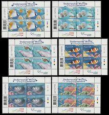 Hong Kong Underwater World 香港海底世界 sheet set (6 sheets) MNH 2019